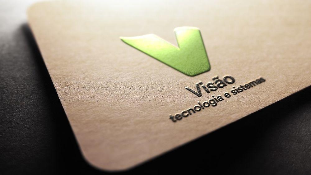 arte com logotipo da visao tecnologia e sistemas